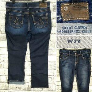 Silver Jeans SUKI Mid Capri Women's W29 Cropped